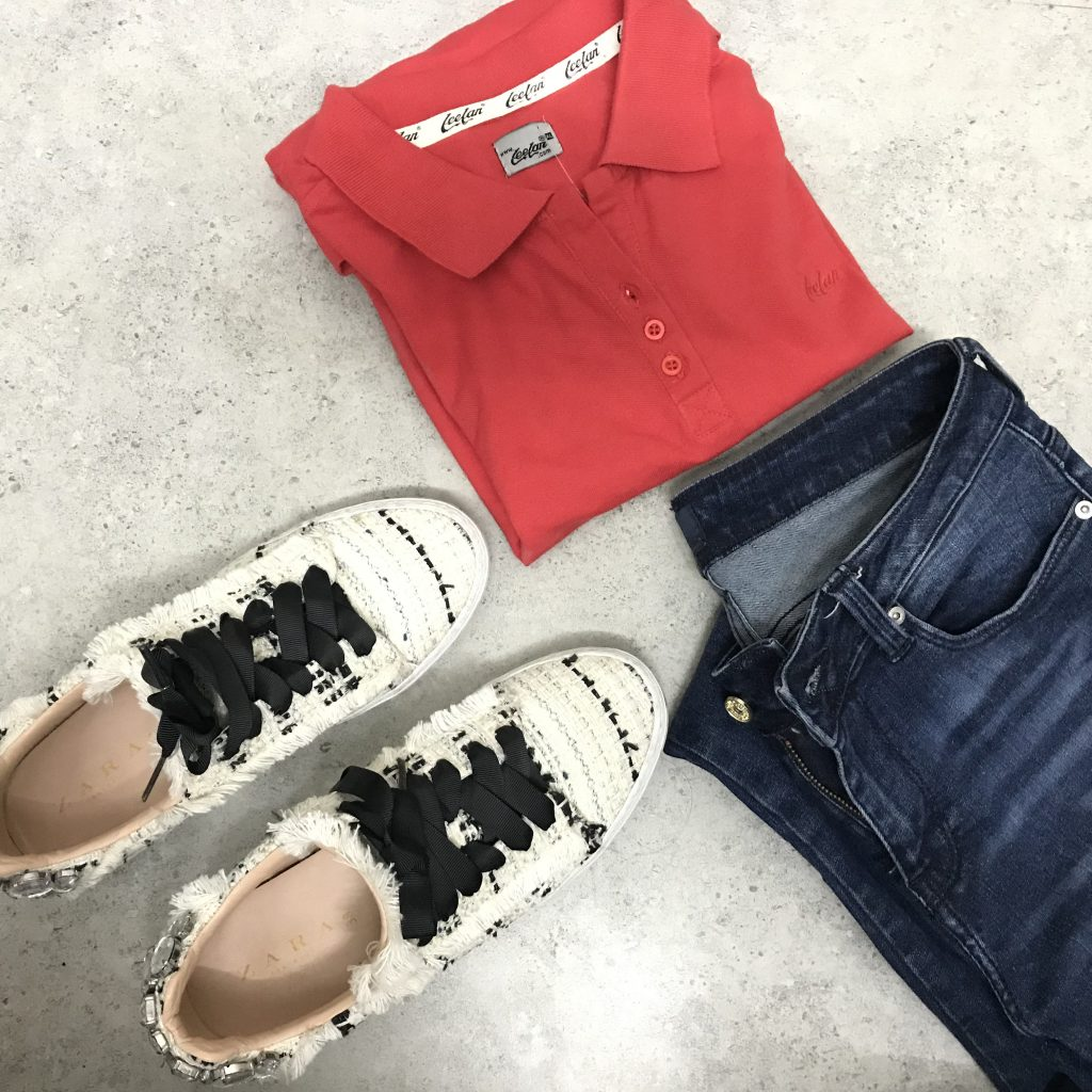Polo Collar T-Shirt Top Half Sleeve